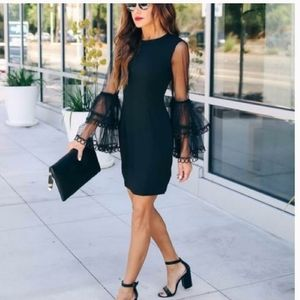 NWT Vici Here She Comes Lace Bell Sleeve Dress
